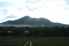 見晴からの燧ケ岳の朝焼け