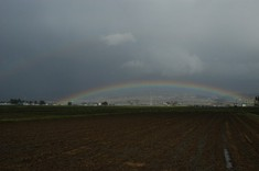 ダブルの虹が!