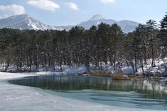 弁天沼と磐梯山